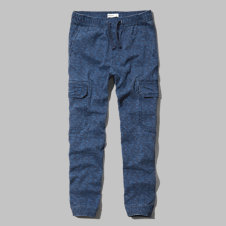 girls a&f cargo joggers