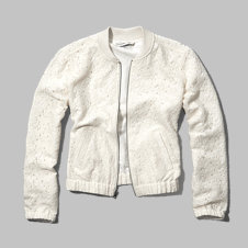 girls lace bomber jacket