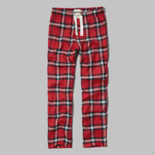 girls classic plaid sleep pants