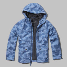 girls camo nylon tech parka