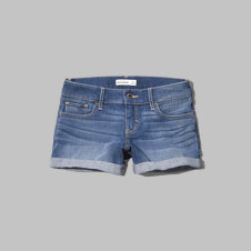 girls a&f low rise midi shorts