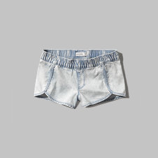 girls denim jogger shorts