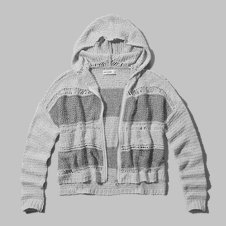 girls textured sweater hoodie