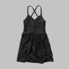girls lace strappy skater dress