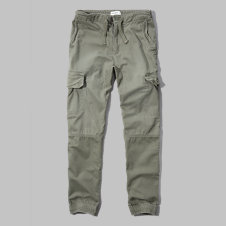 girls a&f cargo jogger pants