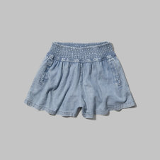 girls chambray culotte shorts