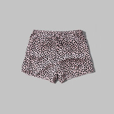 girls patterned drapey shorts