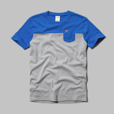 girls colorblock pocket tee