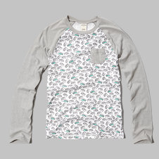 girls pocket baseball tee