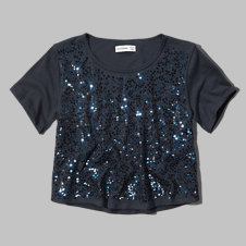 girls boxy shine top