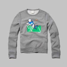 girls 8-bit wide-receiver graphic sweatshirt