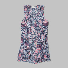 girls sheer pattern vest