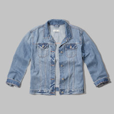 girls in glitter we trust denim boyfriend jacket