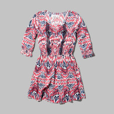 girls patterned peasant dress