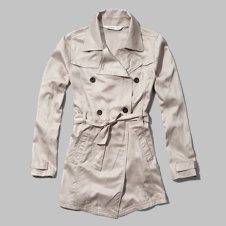 girls drapey trenchcoat