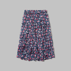 girls tiered floral midi skirt