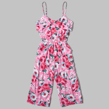 girls floral gaucho jumpsuit