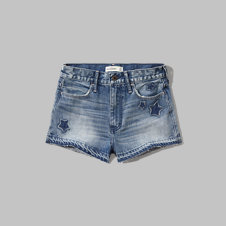 girls a&f high rise festival shorts