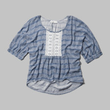 girls shine peasant top
