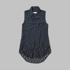 girls lacy sleeveless shirt