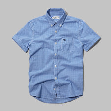 girls iconic short sleeve microcheck shirt