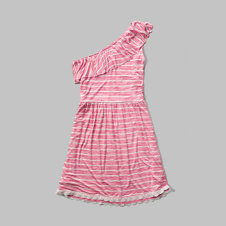 girls one shoulder ruffle dress