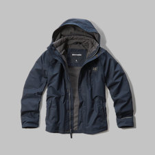 girls a&f all-weather jacket