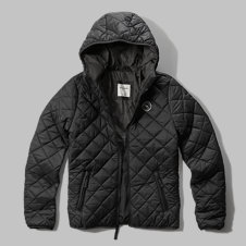 girls diamond quilted lightweight puffer jacket