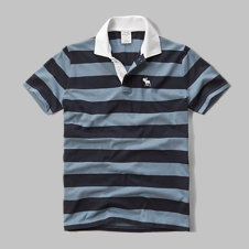 girls striped polo
