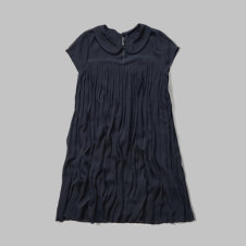 girls pleated chiffon shift dress