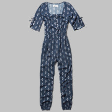 girls boho bell sleeve jumpsuit