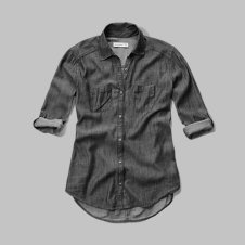 girls chambray pocket shirt