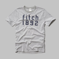 girls a&f logo graphic tee