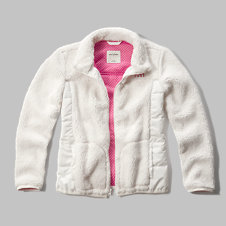 girls quilted sherpa jacket