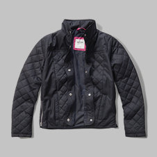 girls quilted nylon jacket