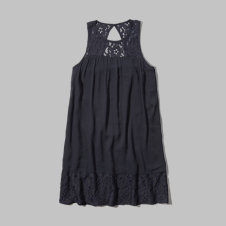 girls lace panel shift dress