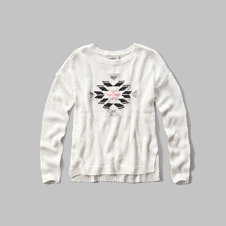 girls intarsia sweater