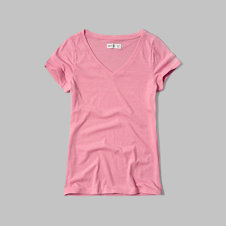 girls v neck tee
