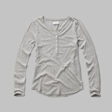 girls knit henley