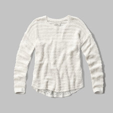 girls lace back sweater