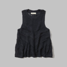 girls side slit sweater tank
