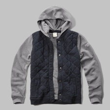 girls quilted hoodie jacket