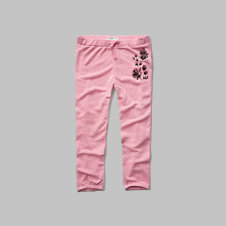 girls a&f banded crop sweatpants