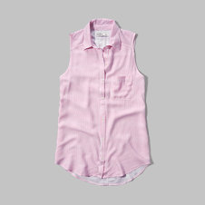 girls striped sleeveless tunic shirt