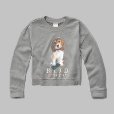 girls shine graphic sweatshirt