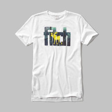 girls split hem Graphic Tee