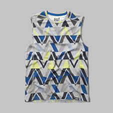 girls sleeveless active tee