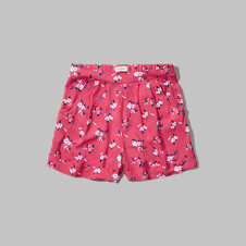 girls floral boyfriend drapey shorts