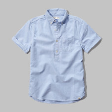girls oxford henley shirt
