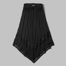 girls lace panel maxi skirt